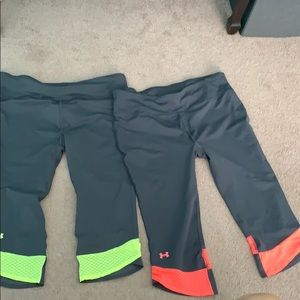 Under Armour Athletic Capris!! 2 package deal!!!